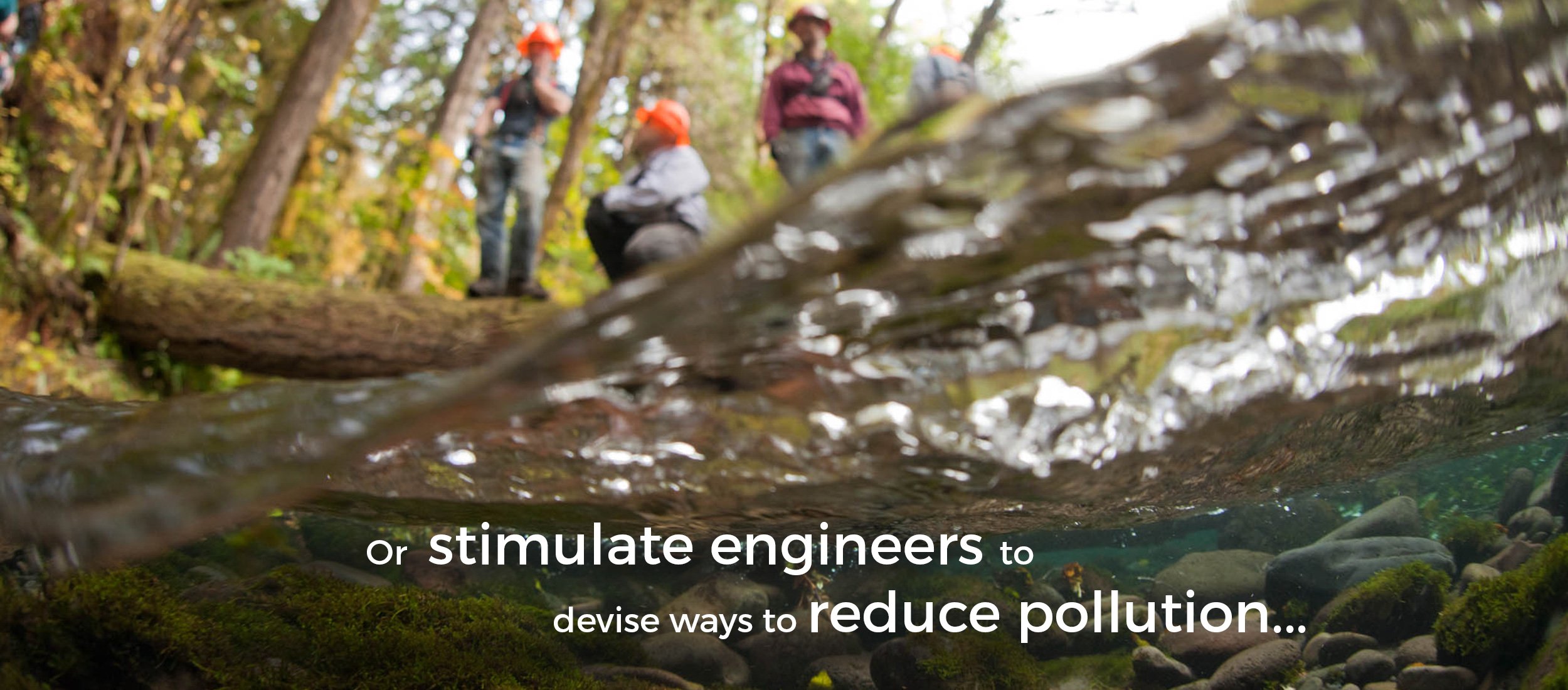 or stimulate engineers to devise ways to reduce pollution...